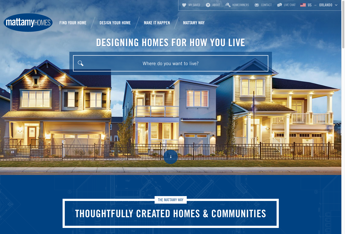 Mattamy Home Website