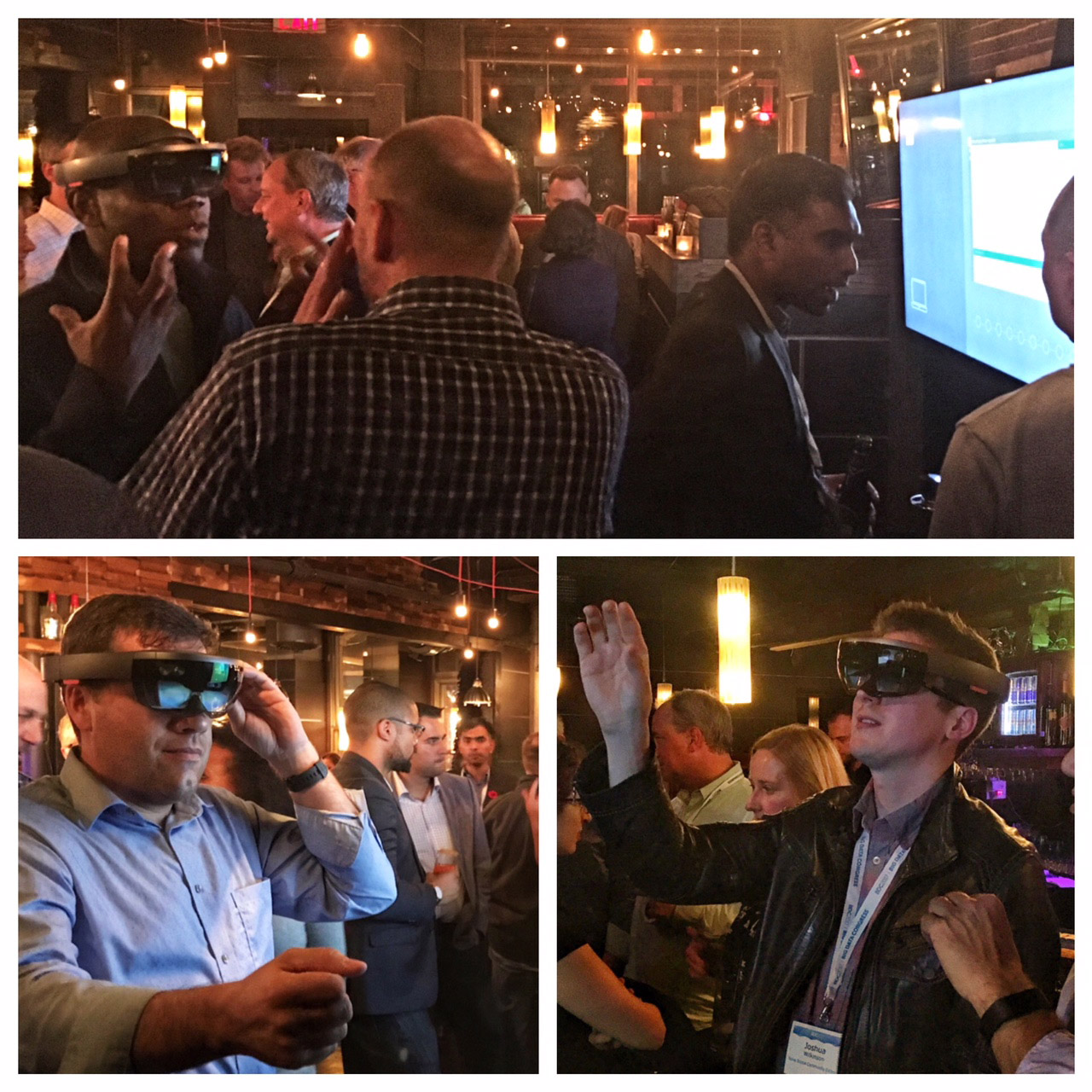 The Bitter End bar in Halifax was packed for a Mixed Reality demo of Hololens technology.